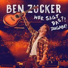 ZUCKER BEN - Wer sagt das?! Zugabe!, 3 Audio-CDs