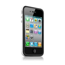 Funda Parachoques HQ para iPhone 4S/4 Bi de color negro/Blanco+ film av/ar