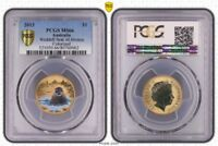 2013 MS66 AUSTRALIA ONE DOLLAR $1 POLAR SERIES SEAL PCGS GRADED GEM UNC