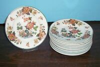 """12 WEDGWOOD EASTERN FLOWER BREAD PLATES 5 5/8"""" NEVER USED FREE U S SHIPPING"""