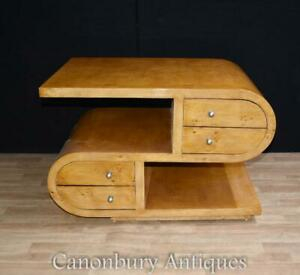 Art Deco Coffee Table - S Shape Tables 1920s Interiors