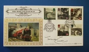 BENHAM 1994 AGE OF STEAM FIRST DAY COVER SIGNED BY TERENCE CUNEO