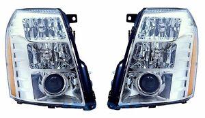 New HID Xenon Headlight PAIR FOR 2007 2008 2009 2010 2011-2017 Cadillac Escalade