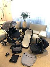 Silver Cross Pioneer Grey/Simplicity car seat/Carrycot/Extras