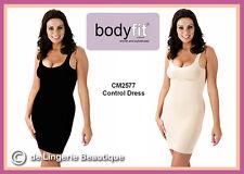Full Dress Body Shaper with Straps - Black & Nude/Skin  Size 8 - 20  S, M, L, XL