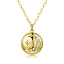 Pendant, Hippie Boho Witch, Celestial Crescent Moon Necklace Lunar Luna Charm