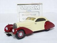 Vroom 1/43 1937 Bugatti Type 57 Gangloff Resin Handmade Model Car