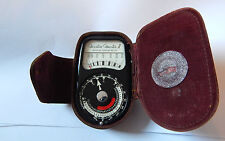 Vintage Weston Master II light Meter cased responds to light