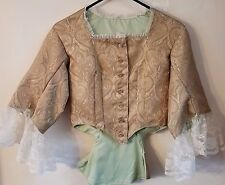 Civil War Style Tea Bodice or Dinner Bodice Size Small Gold Brocade and Lace