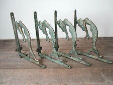 4 Cast Iron MERMAID Brackets Garden Braces Shelf Bracket Corbels Beach Nautical