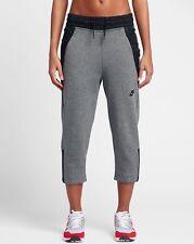 NIKE NSW TECH FLEECE Wmns Sneaker Trousers Cropped Pants 831711-091 Grey Size S