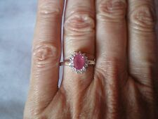 Ruby & Topaz ring, size N/O, 1.36 carats, in 2.33 grams of 925 Sterling Silver