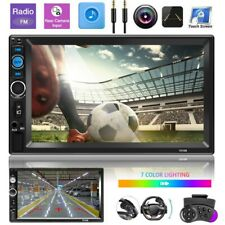 "2DIN 7"" HD AUTORADIO BLUETOOTH STEREO LETTORE MP5 AUX Mirror Link + Rear Camera"