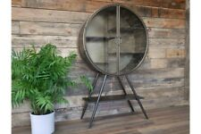 Industrial Circular Metal Display Cabinet