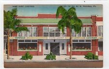 HOME DAIRY, CAFETERIA, ST.PETERSBURG: Florida USA linen postcard (C5035).