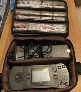 Atari Lynx Console MK 1 Rare With 12 Games Bundle, Case And Battery Pack
