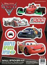 Disney Pixar Cars 2 Removable & Reusable Wall Sticker Kit Bedrooms Furniture