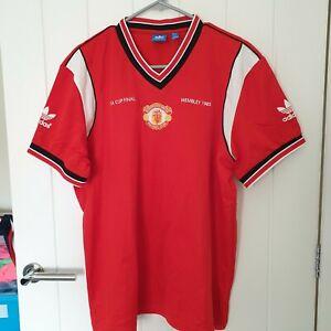 adidas Originals Manchester United Wembley 1985 F.A. Cup Final shirt XL