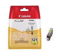 Cartouche d'Encre Originale Canon Jaune CLI-521Y / Ink Cartridge Yellow / Pixma