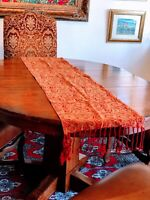 6 PC RED PAISLEY Decor Tapestry Table Runner Placemat Place Mat Set