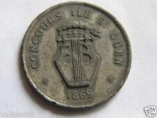 MEDAILLE CONCOURS St OUEN 1869 Stés CHORALES HARMONIES FANFARES / NAPOLEON III