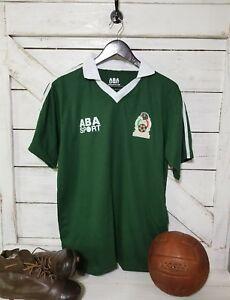 ABA Sport Mexico 1986 Hugo Sanchez #9 Green Retro Jersey Size XL