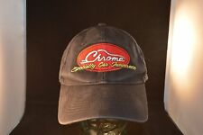 NSRA Chrome Specialty Car Insurance S/B Ballcap Hat Black EUC Washed Sanitized