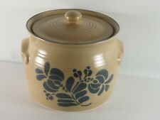 Pfaltzgraff Folk Art Blue Bird 160 Soup Tureen Canister 3.5 Qt no Ladle flaw lid