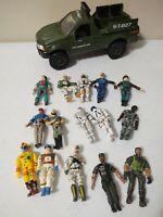 VTG GI Joe Lot (80s, 90s, 03)15 Figures +Vehicle *Read*