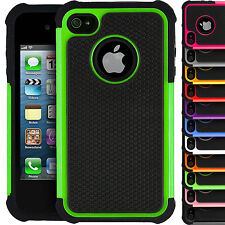 Hybrid Silicone Dual Layer Shockproof Case Silicone Cover for Apple iPhone 4/4S