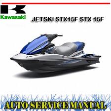 KAWASAKI JETSKI STX15F STX 15F WORKSHOP SERVICE REPAIR & OWNER'S MANUAL ~ DVD
