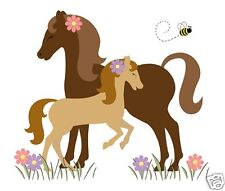 Horse Decal Wall Mural Girl Pony Barnyard Farm Animals Equestrian Art Stickers