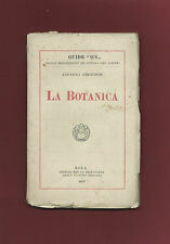 Libro La Botanica Augusto Bèguinot 1920 Istituto per la Propaganda della Cultura