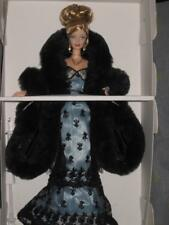 1999 Nolan Miller Evening Illusion Gorgeous Blonde Barbie Doll 23495 Displayed