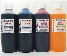 4 X 250ML EDIBLE INK REFILL SET FOR CANON PRINTERS