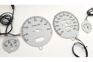 Audi 80 & 90 (B3, B4) glow gauges S2 Design glow gauges dials plasma dials kit t