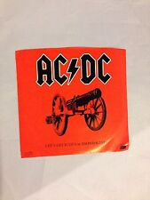 AC/DC Let's Get It Up b/w Snowballed
