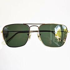 occhiali da sole RAY BAN CARAVAN 52 SUNGLASSES gold b&l vintage bausch&lomb rare