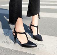 Women Clubwear High Heels Ankle Strap Stilettos Slingback Sandal Party Sexy Shoe