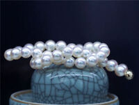 "Natural 10MM Akoya South Sea White Shell Pearl Round Beads Necklace 18""  AAA+"