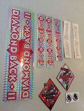 Diamondback Silver Streak Decals Sticker Set Suit Your Old School BMX Red