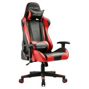 Leather Office Ergonomic Swivel Racing Chair Gaming Chair 3 DAY FAST SHIPPING!