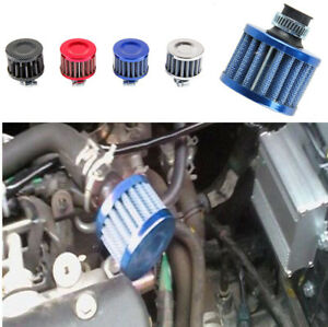 12MM Blue Round Mini Oil Air Intake Crankcase Vent Valve Cover Breather Filter