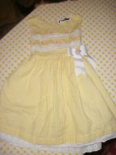 Rare Editions Yellow Gingham Seersucker Dress Size 4