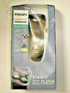 MENS Philips Norelco Rechargeable Cordless Shaver 3600 Model S3560/88 RETAIL $65