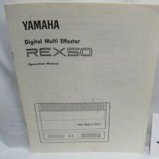 yamaha rex50 digital multi effector operation manual yamaha owners manual