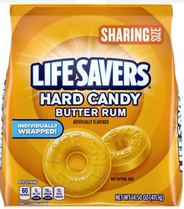LIFESAVERS  'Butter Rum' Hard Candy Butter Rum Geschmack 411gr Original aus USA
