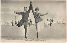 Superbagneres France in Winter- Artistical Skating Vintage French Postcard