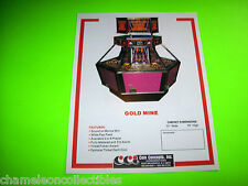 GOLD MINE + FAIRGROUND ATTRACTION By CCI ORIGINAL NOS ARCADE GAME SALES FLYER