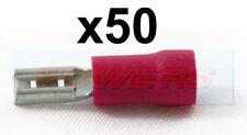 Conector hembra 50PK Paquete Rojo 1/4 Terminales de Cable 2.50 mm Lucar 0.5 Mm - 1.5 mm²